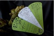 Buy custom and personalize Wedding Programs,  Wedding Fan Programs